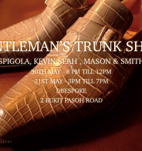 DBespoke Trunk Show 30th & 31st May 2015
